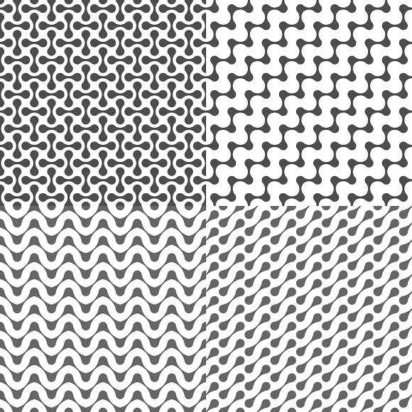 Fluid Dots seamless patterns set in Patterns - product preview 7