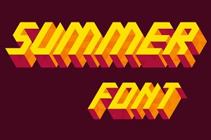 Isometric alphabet: Summer
