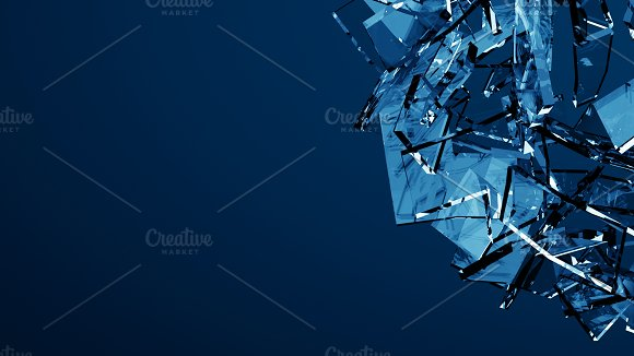 Blue shattered glass - 6 backgrounds in Objects - product preview 3