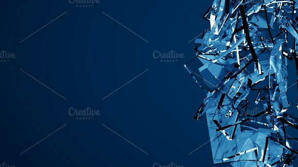 Blue shattered glass - 6 backgrounds in Objects - product preview 4