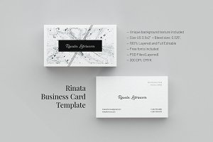 Rinata. Business Card Template