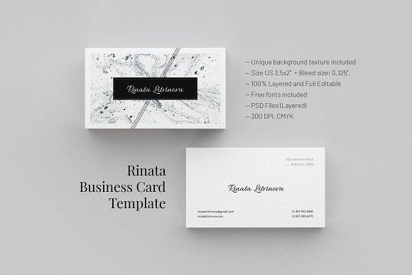 Free Rinata Business Card Template