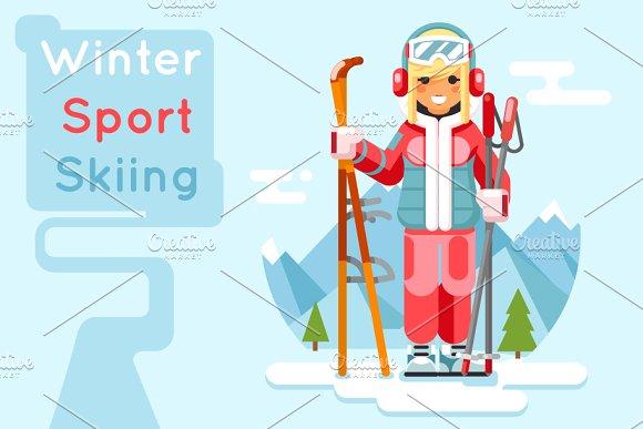 Cute skier girl