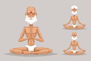 Elderly Old Yoga Master