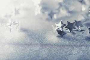 Christmas mirror sparkling