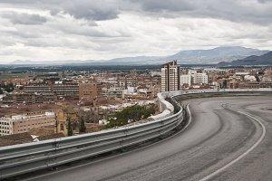 entrance road to Granada