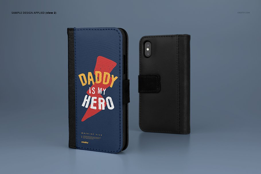 iPhone X Foldable Case Mockup Set in Templates - product preview 4