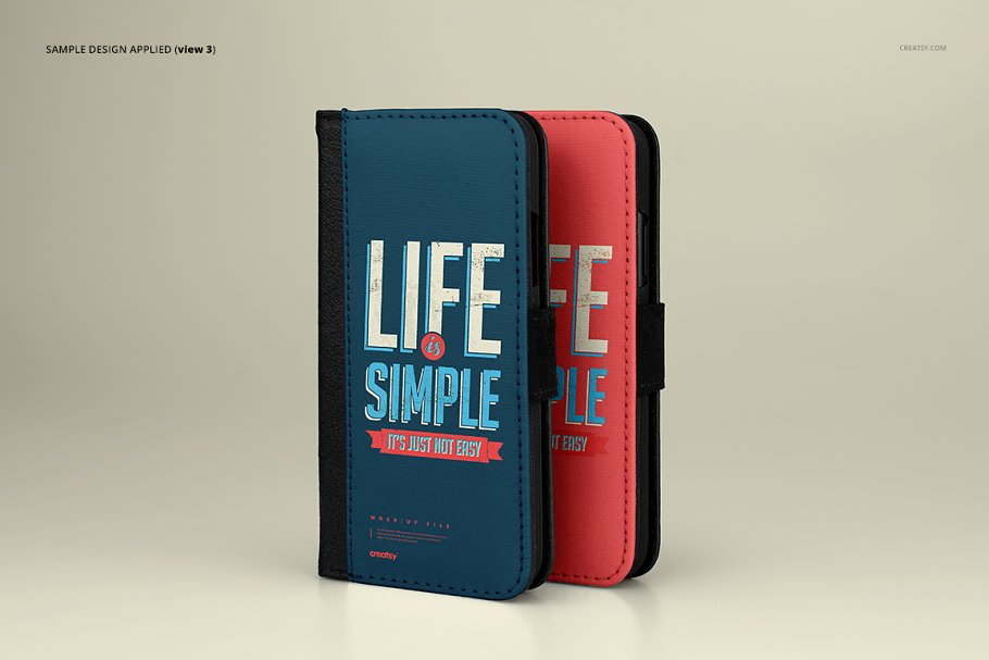 iPhone X Foldable Case Mockup Set in Templates - product preview 5