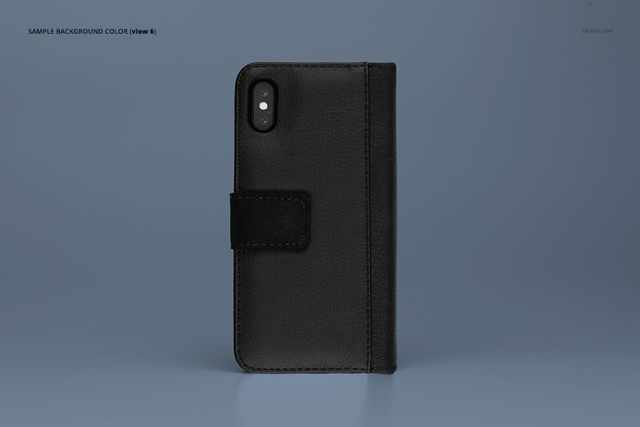 iPhone X Foldable Case Mockup Set in Templates - product preview 8