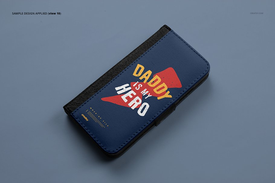 iPhone X Foldable Case Mockup Set in Templates - product preview 12