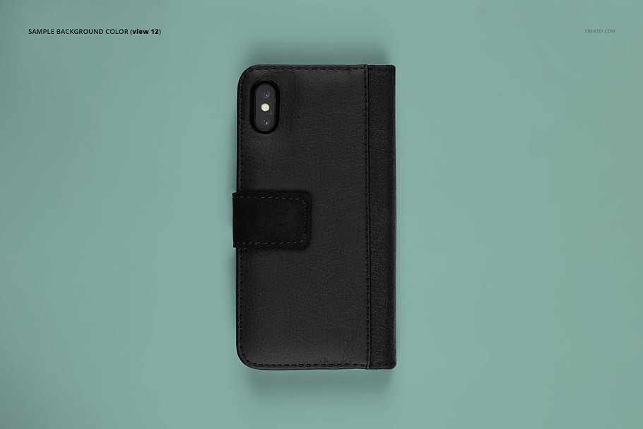 iPhone X Foldable Case Mockup Set in Templates - product preview 14