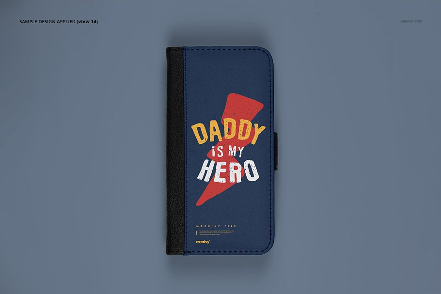 iPhone X Foldable Case Mockup Set in Templates - product preview 16