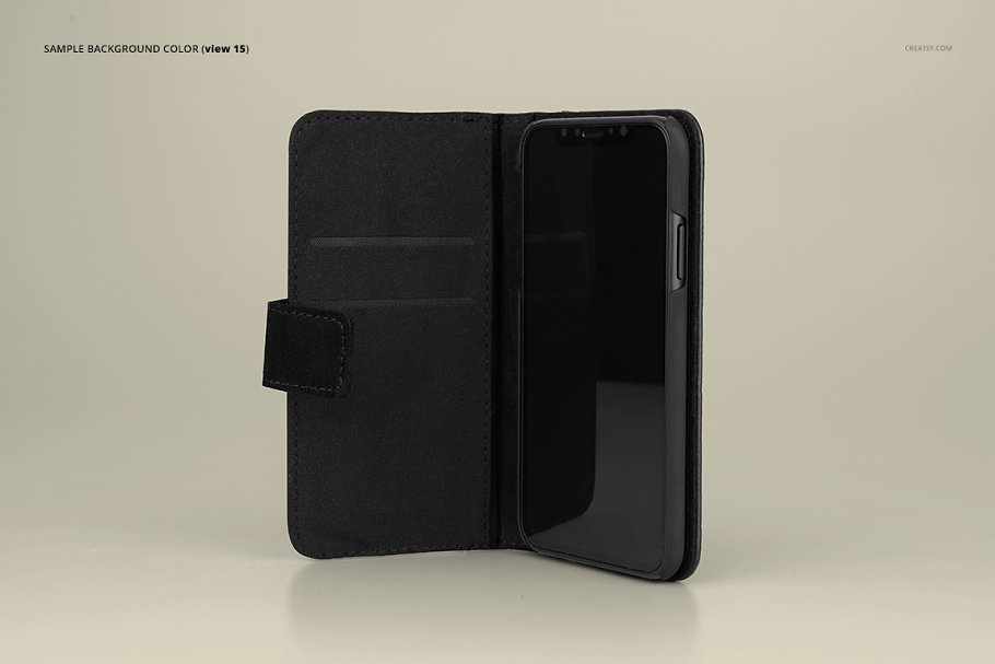 iPhone X Foldable Case Mockup Set in Templates - product preview 17
