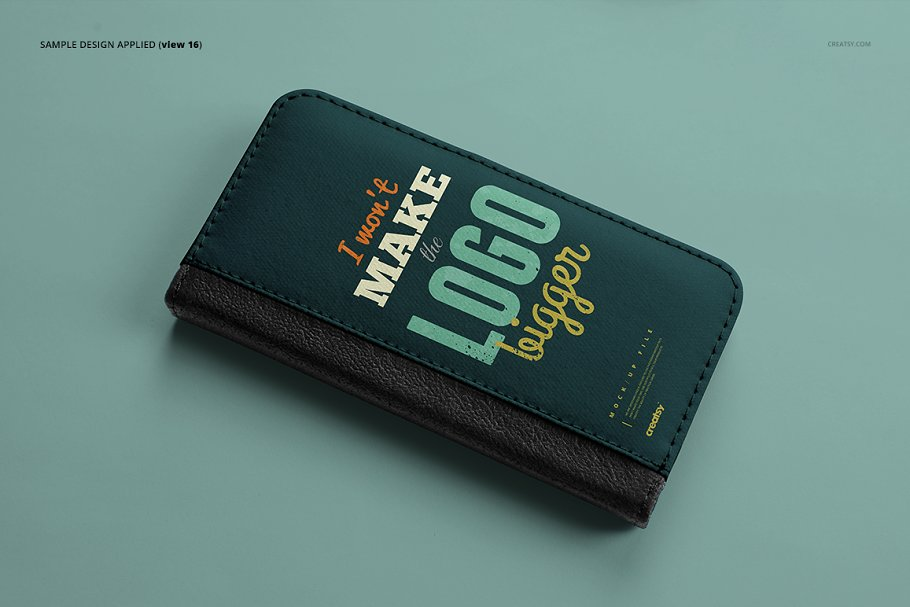 iPhone X Foldable Case Mockup Set in Templates - product preview 18