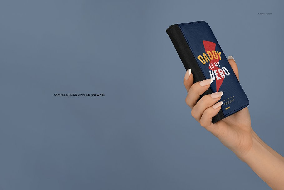 iPhone X Foldable Case Mockup Set in Templates - product preview 20
