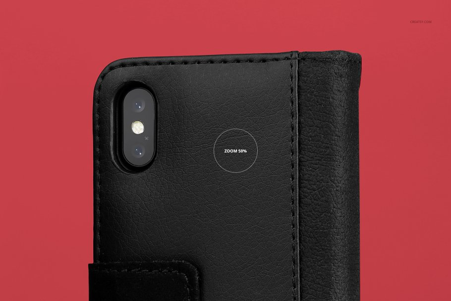 iPhone X Foldable Case Mockup Set in Templates - product preview 23