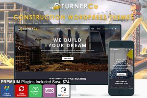 Turner Construction WordPress Theme