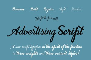 Advertising Script - 5 fonts