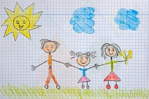 Children's drawing.