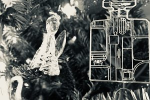 Glass Angel + Chanel Bottle Ornament