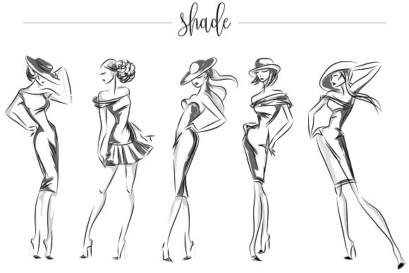 Fashion silhouettes for logo & brand in Illustrations - product preview 6