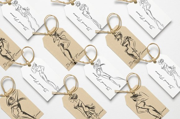 Fashion silhouettes for logo & brand in Illustrations - product preview 8