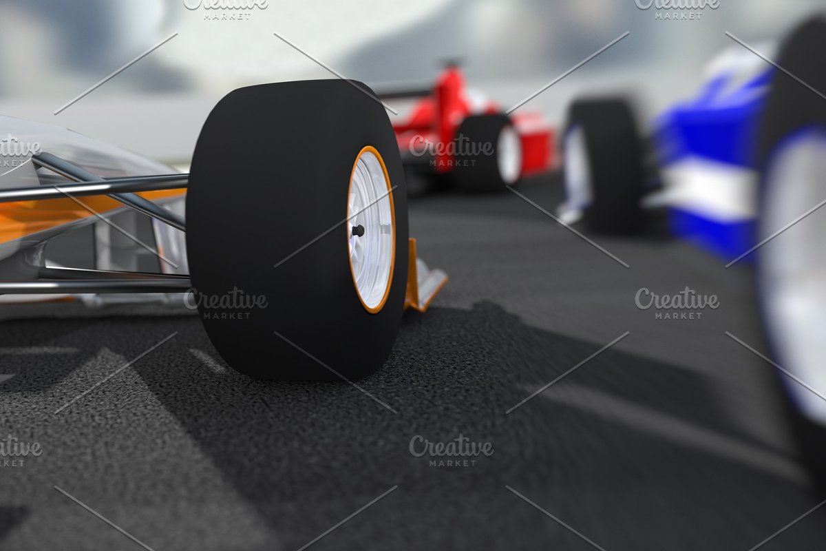 Formula 1 Racing Cars in Illustrations