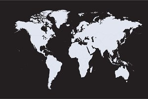 World map .png file isolated