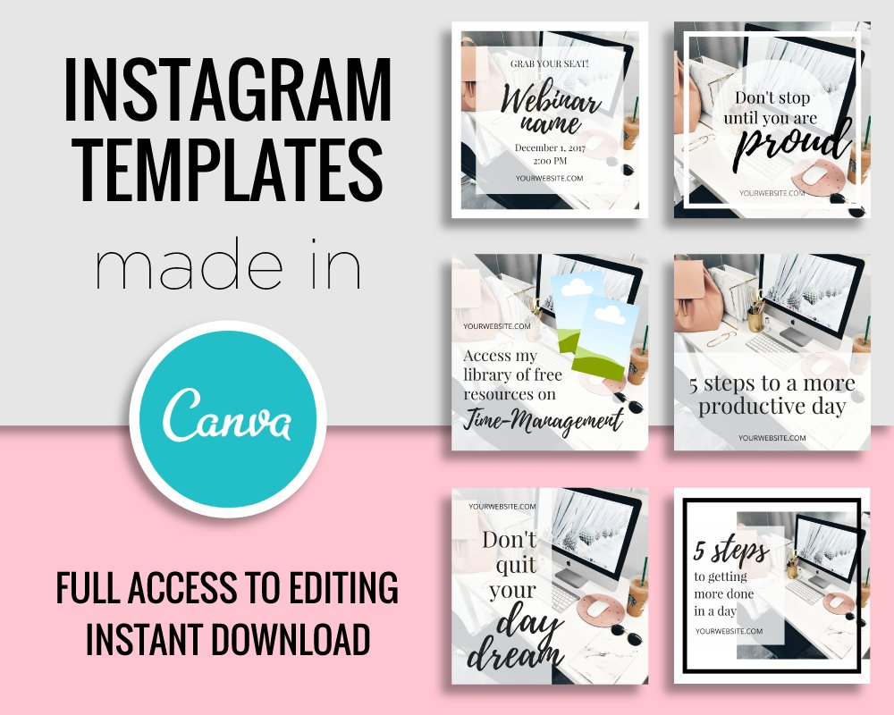 Instagram Templates Made In Canva ~ Instagram Templates