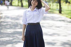 Asian female student