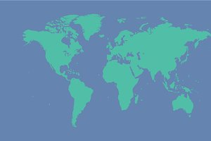 World map ISOLATED .PNG file