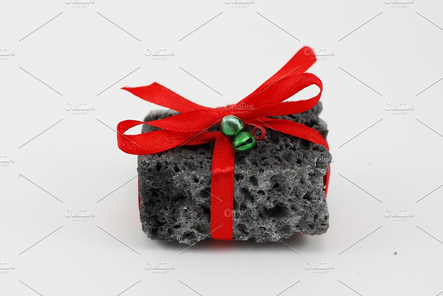 Christmas coal gift ~ Holiday Photos ~ Creative Market