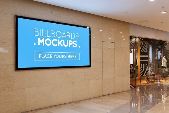 Billboards In Mall Mockups #5