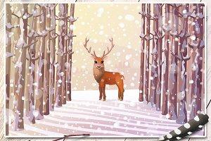 ❄ vector Christmas card
