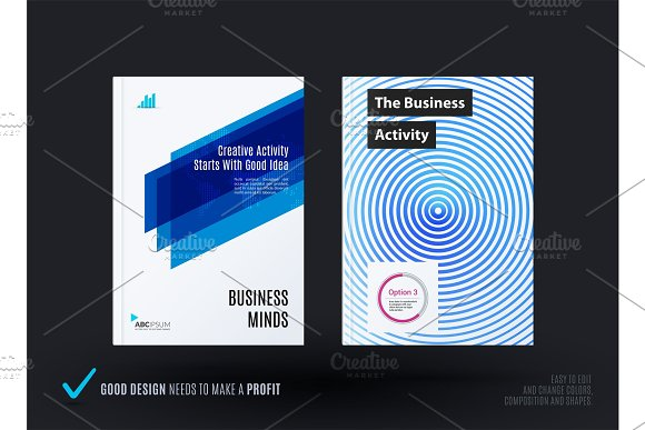 Abstract design of business vector template, brochure in Illustrations