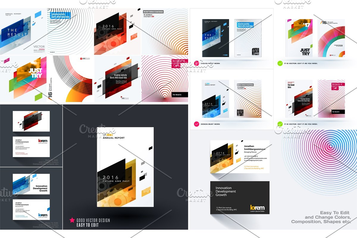 Mega set of design of business vector templates in Illustrations