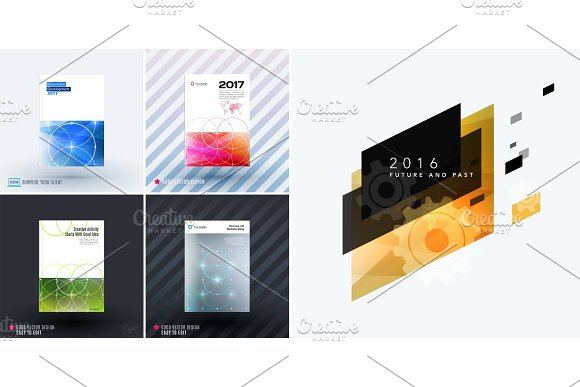 Mega set of design of business vector template, brochure