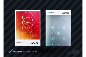 Abstract design of business vector template