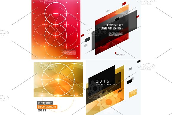 Mega set of design of business vector template, brochure