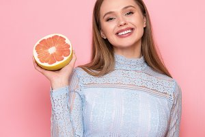 female fruit diet healthy food