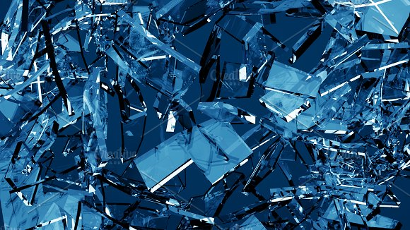 Blue shattered glass - 6 backgrounds in Objects - product preview 6