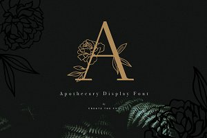 Apothecary Display Font