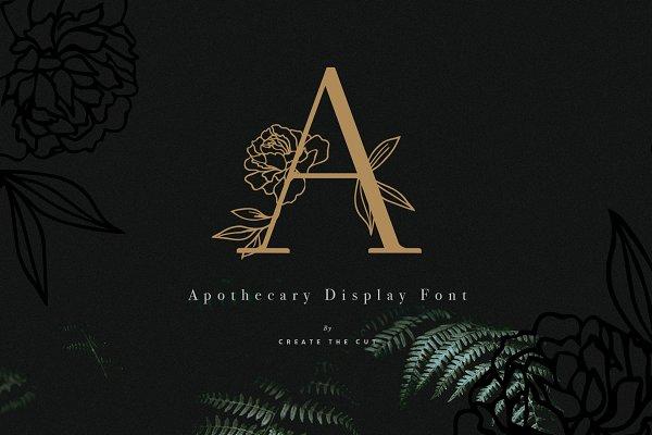 Apothecary Display Font
