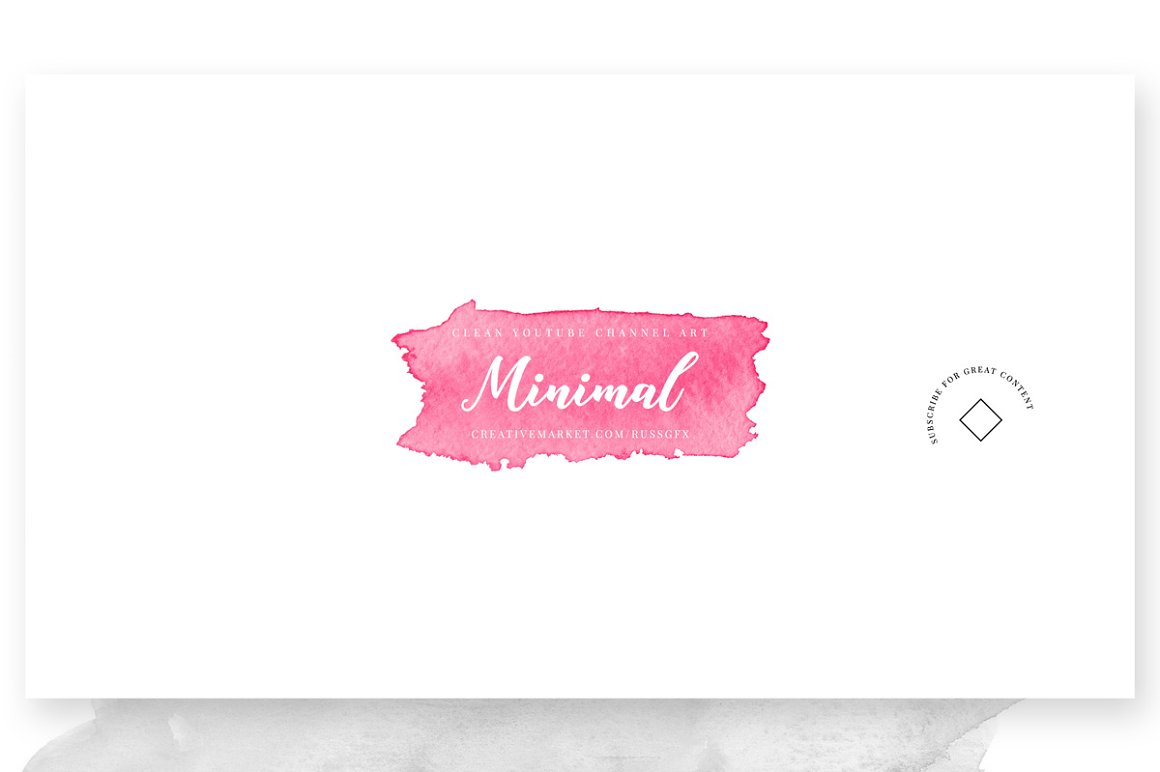 Minimal Youtube Channel Art Banners