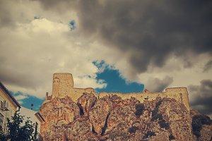 Olvera Castle in the evening rain