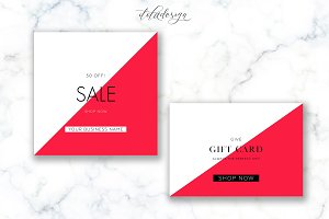 Modern Red Sale + Gift Card