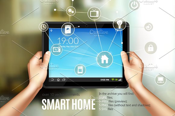 Smart Home Realistic Set