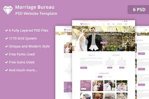 Marriage Bureau PSD Website Template ~ Website Templates ~ Creative