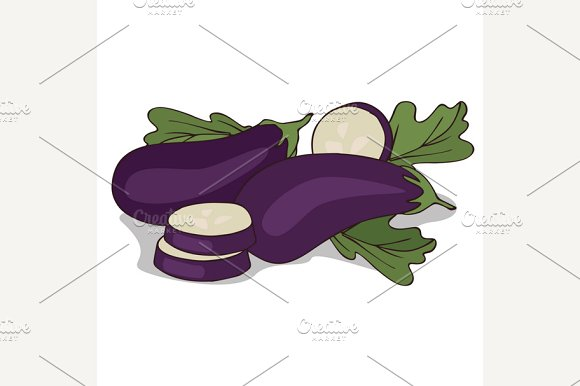 Isolate aubergine or eggplant