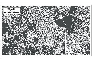 Riyadh Saudi Arabia City Map